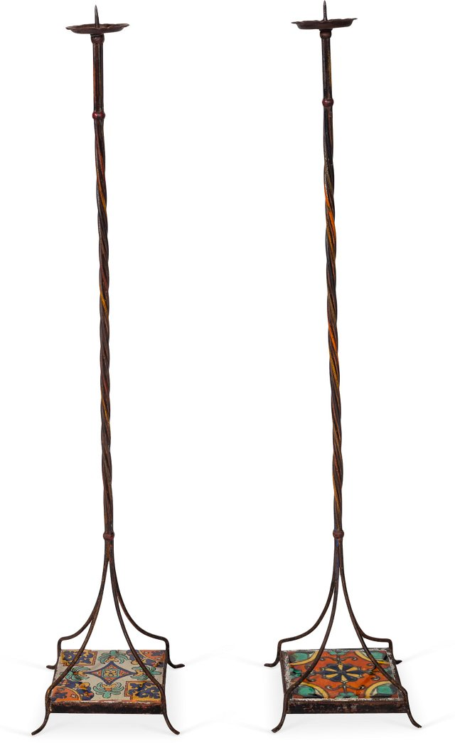 Tall Candleholders, Set of 2