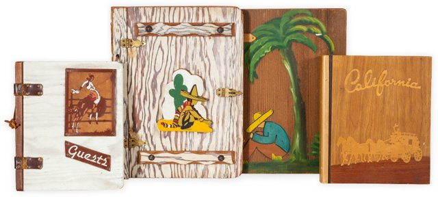 Wood Picture Books, Set of 4, III