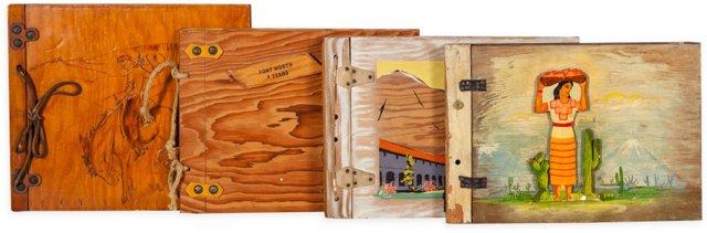Wood Picture Books, Set of 4, VI