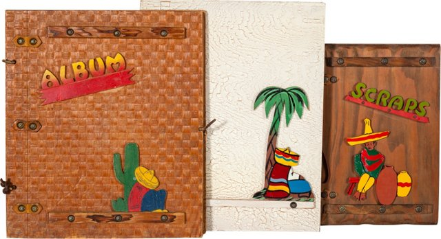Wood Picture Books, Set of 3, II
