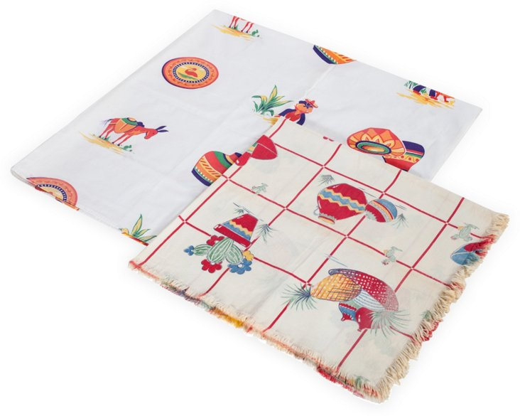 Mexican Tablecloths, Set of two