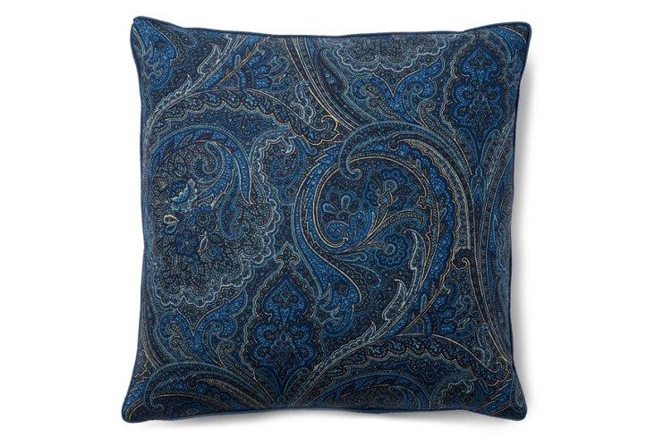 Paisley 16x16 Pillow, Blue