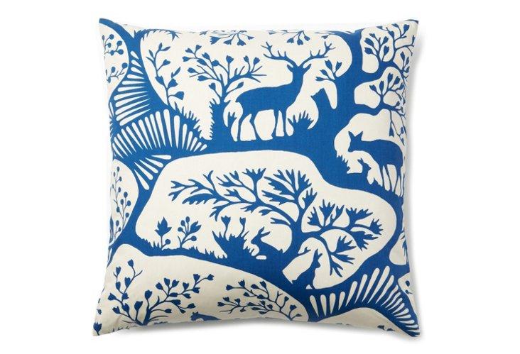 Zoology 20x20 Pillow, Blue