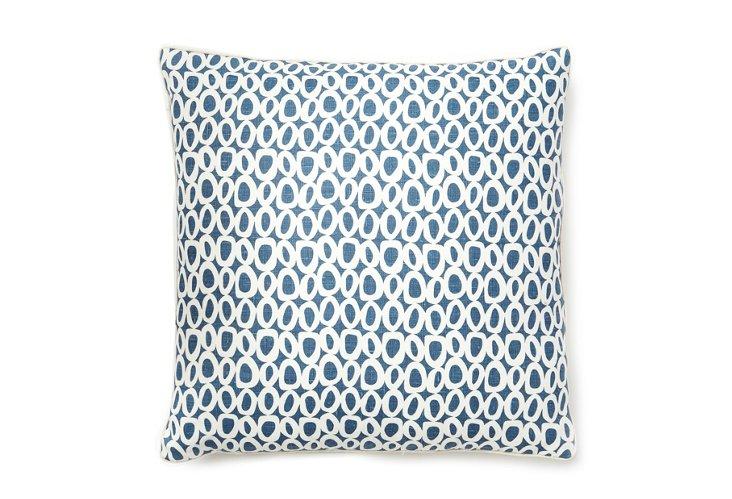 Solar Dots 22x22 Pillow, Navy