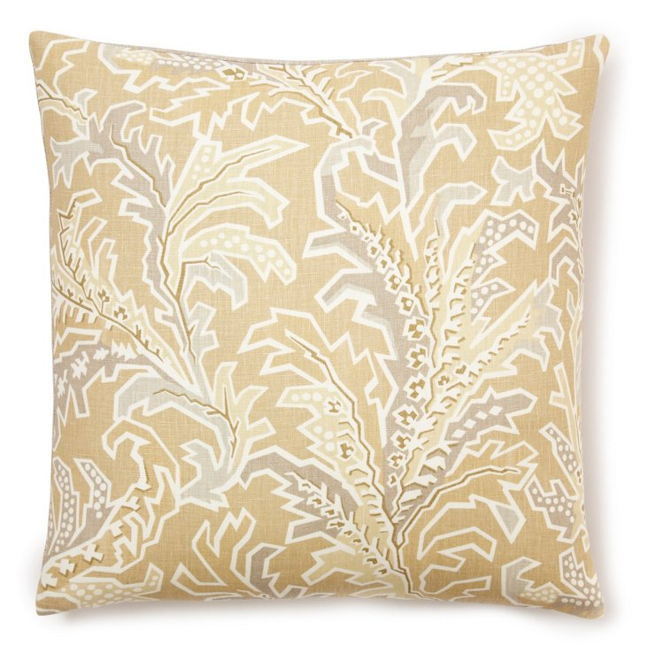 Tuscan Ikat 20x20 Pillow, Jute