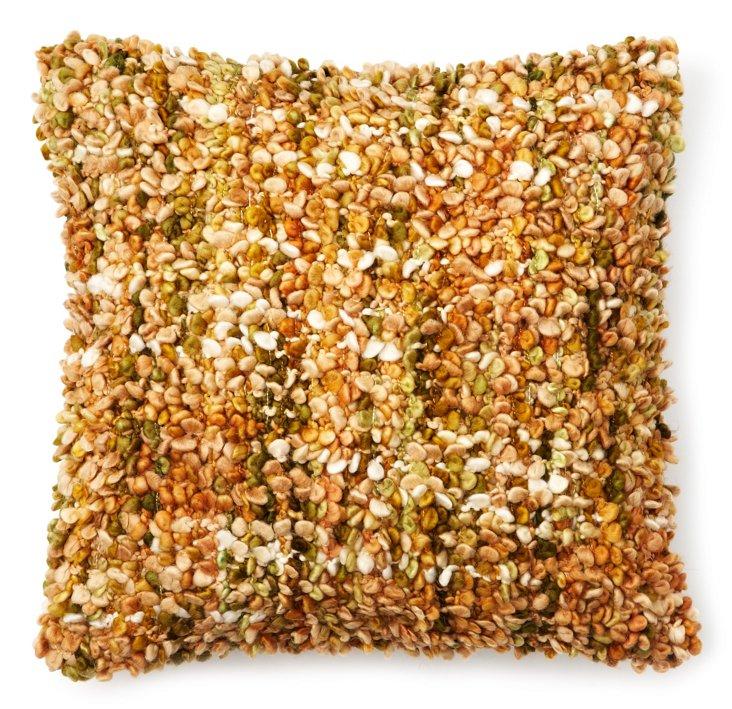 Textured 16x16 Pillow, Gold
