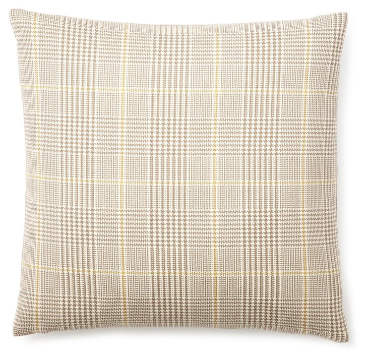Houndstooth 18x18 Pillow, Taupe