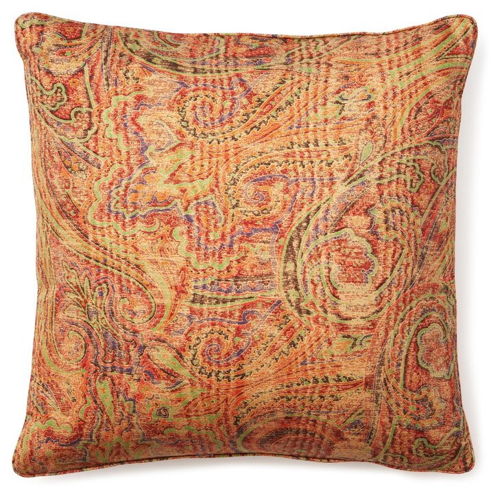 Paisley 18x18 Pillow, Pinot