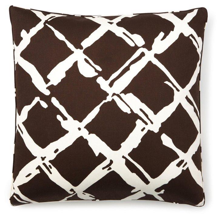 Large Lattice 20x20 Pillow, Espresso