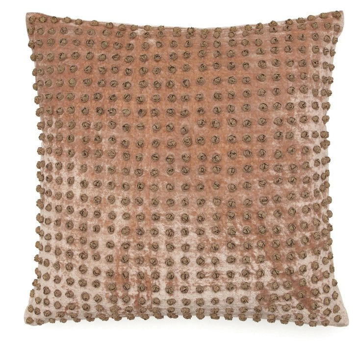 French Knot 20x20 Pillow, Beige