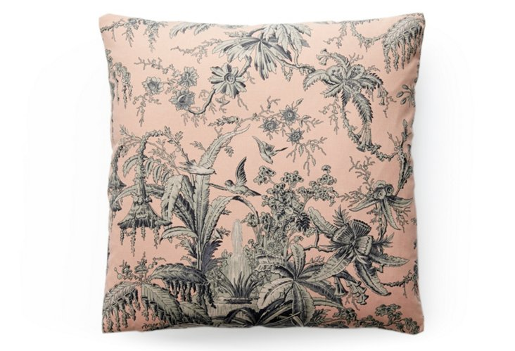 Toile 20x20 Pillow, Blue/Natural