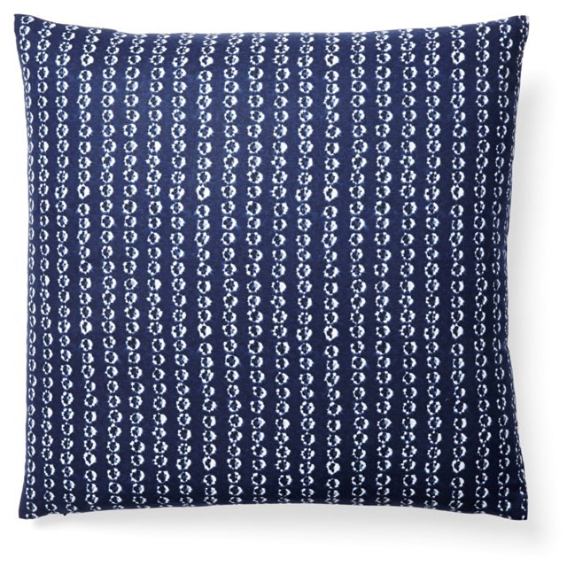 Droplet 20x20 Cotton Pillow, Blue