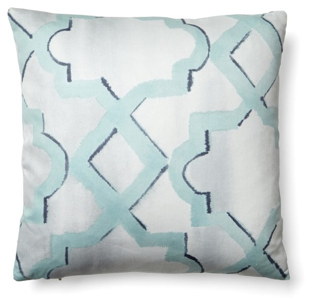 Lapidus 16x16 Cotton Pillow, Blue