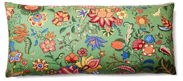 Imagination Garden 12x26 Pillow, Green