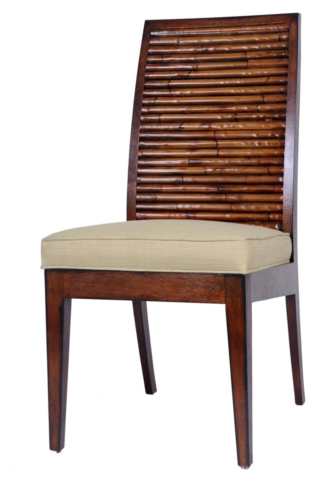 Stacked Bamboo Side Chair, Sage