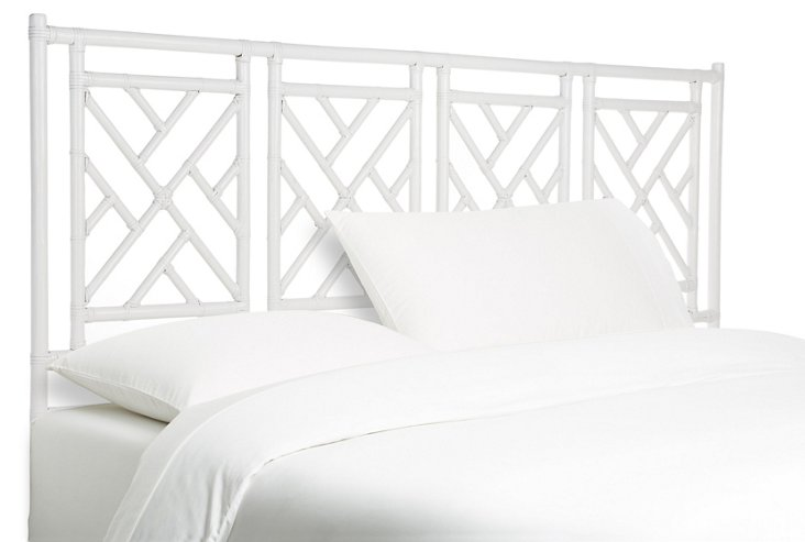 Chippendale Headboard, White