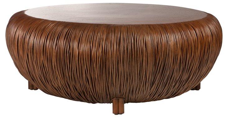 "Oasis 47"" Round Coffee Table, Mahogany"