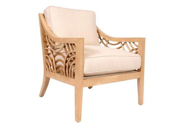 Manhattan Lounge Chair, Almond/Sand