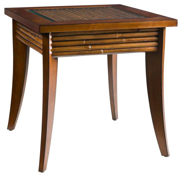 Bamboo Side Table, Golden Mahogany