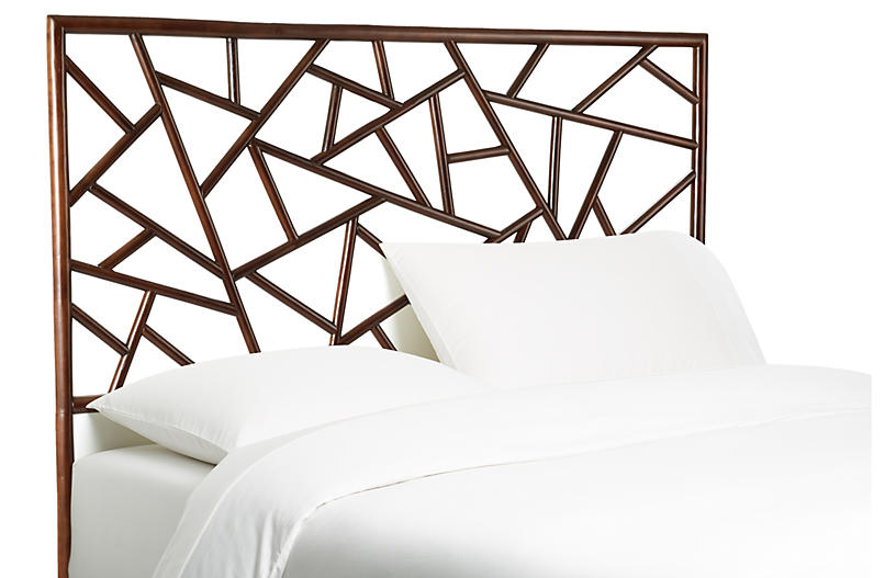 Tiffany Headboard - Dark Chestnut - David Francis Furniture