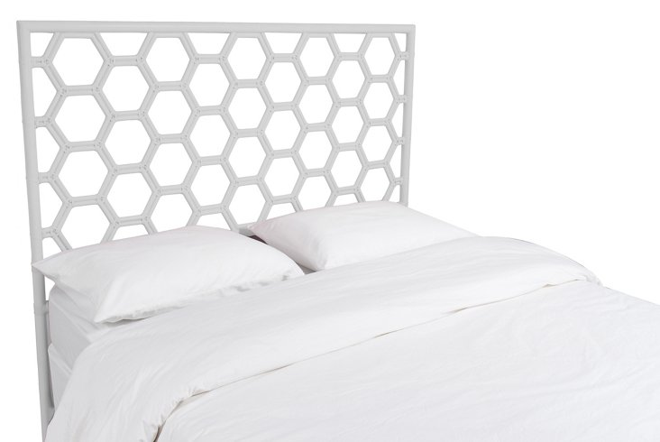 White Honeycomb Headboard, Twin