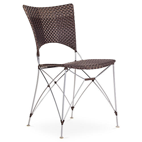 Kyoto Outdoor Side Chair, Cappuccino