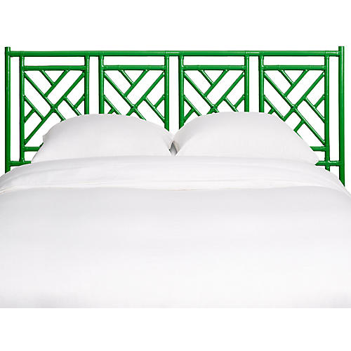 Chinese Chippendale Kids' Headboard, Green