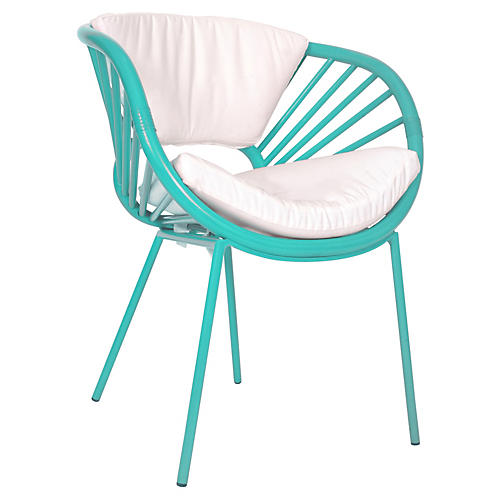Aura Accent Chair, Turquoise