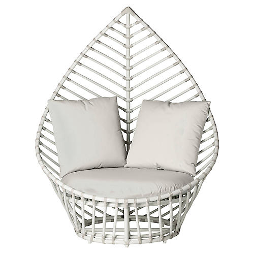 Palm Outdoor Chair, White