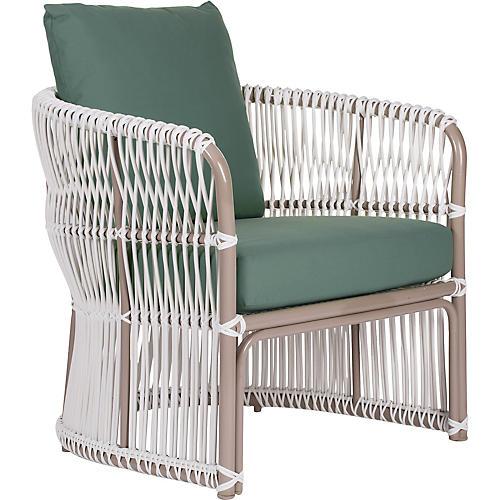 Fiji Outdoor Lounge Chair, Teal