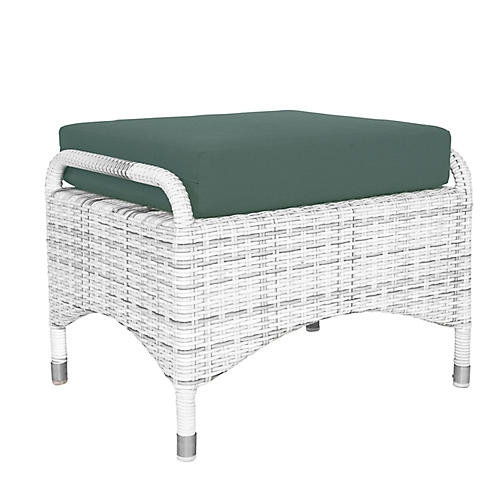 Newport Outdoor Ottoman, Teal
