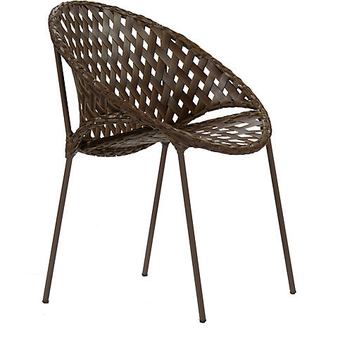 Tik-Tak Stacking Chair, Mocha