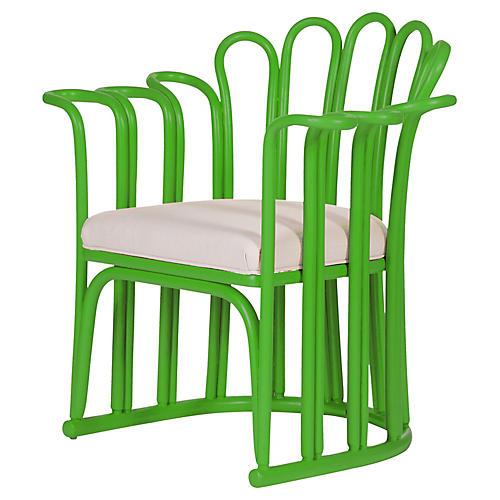 Calla Accent Chair, Bright Green