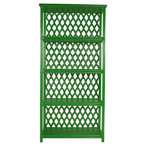 Casablanca Bookcase, Bright Green