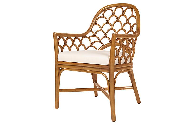 Koi Armchair, Camel Brown
