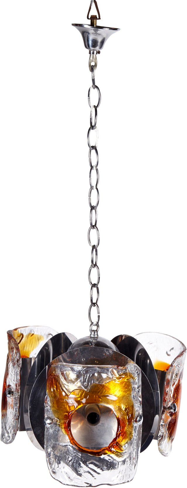 Italian Mazzega Glass Chandelier