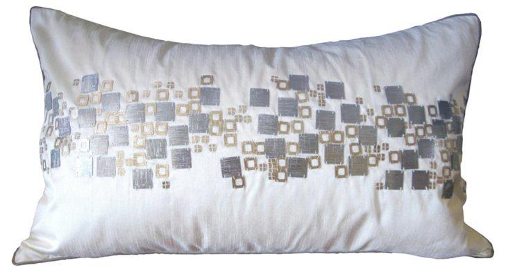 Geometric 12x18 Pillow, Beige