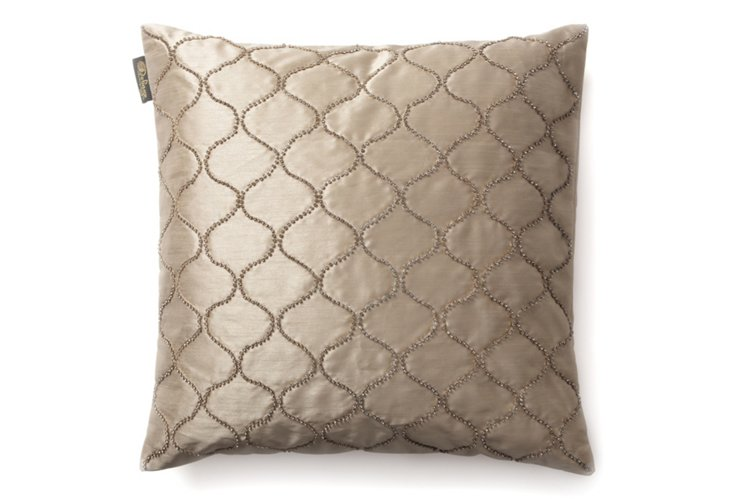 Opulence 20x20 Pillow, Taupe