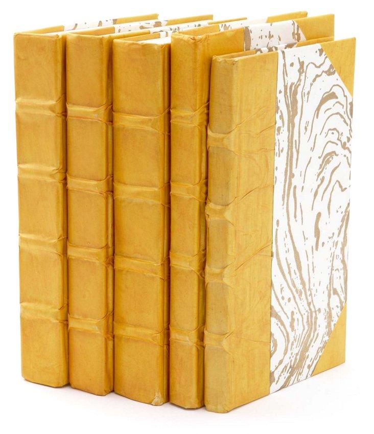 S/5 Parchment Books, Mustard