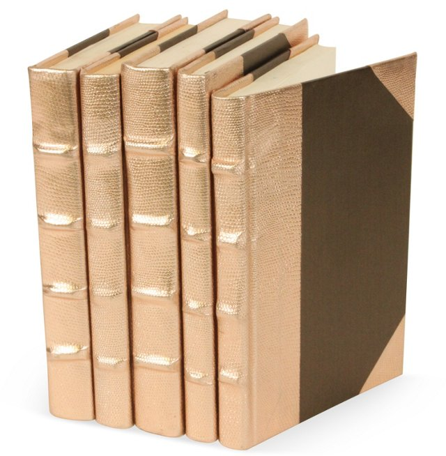 S/5 Metallic Collection Books, Copper