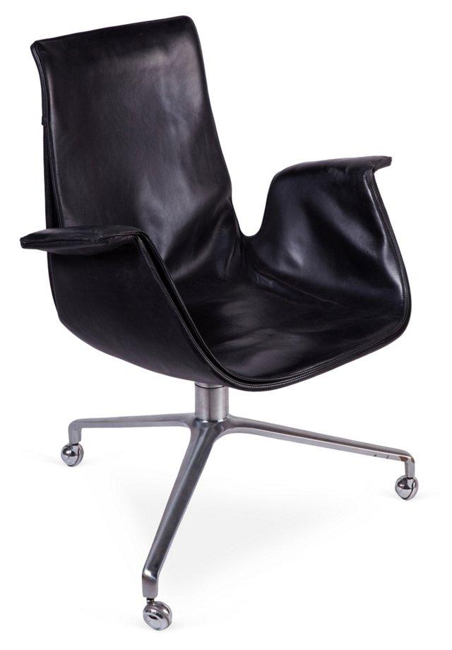 Preben Fabricius Leather Desk Chair