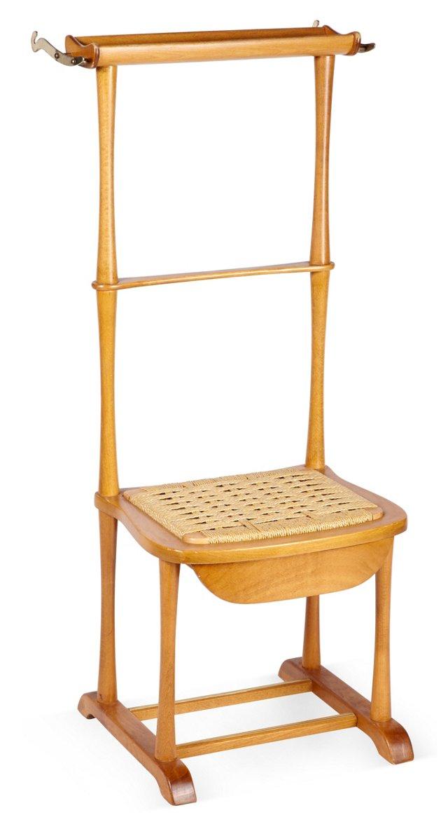 Italian Wood Valet w/ Hemp Seat