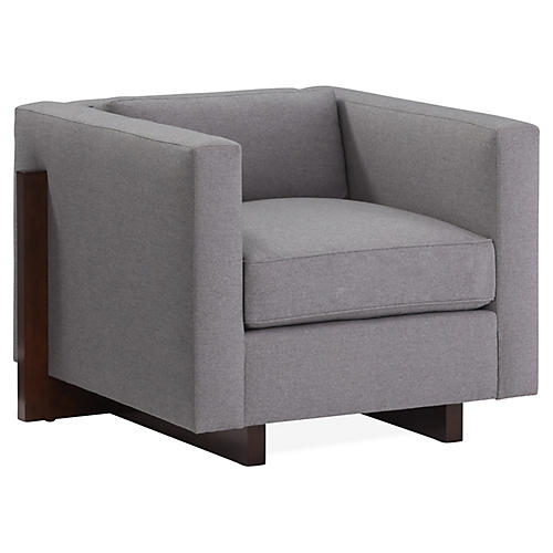 Porter Club Chair, Gray