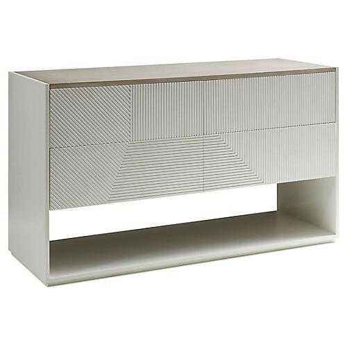 Hampden Console, White/Khaki