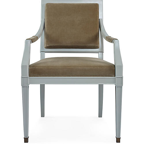 Windom Armchair, Almond Linen