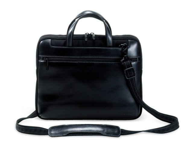 "15"" Leather MacBook Messenger, Black"
