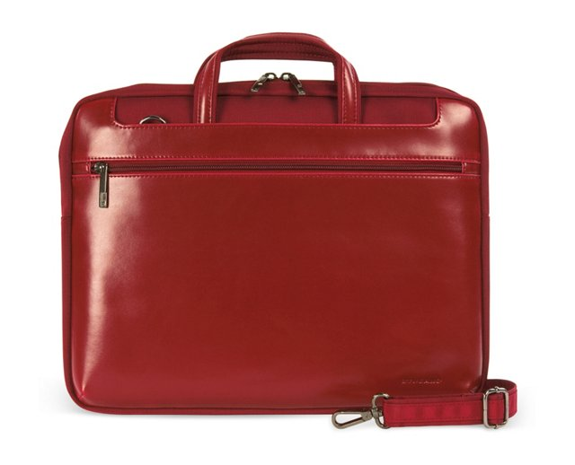 """15"""" Leather MacBook Messenger, Red"""