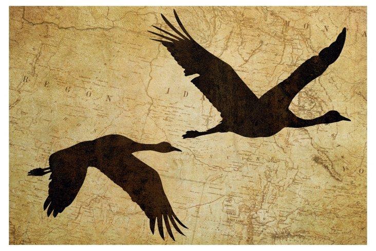 Cranes in Flight II