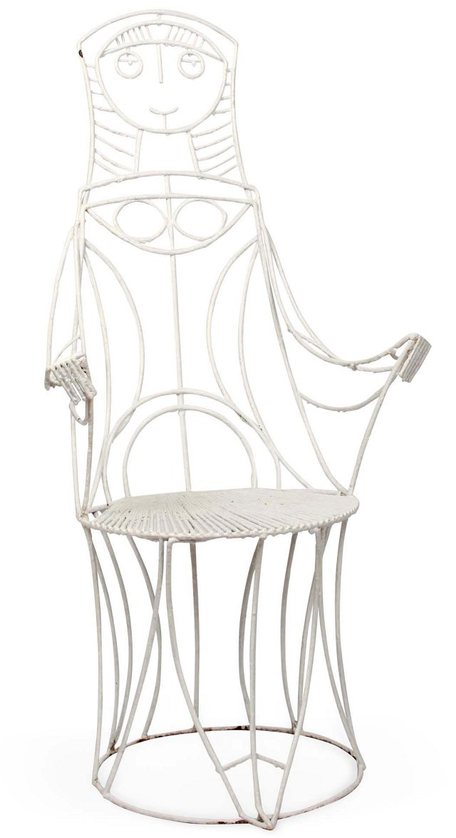 American High-Back Garden Chair