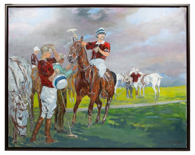 Oil Painting, Polo Players
